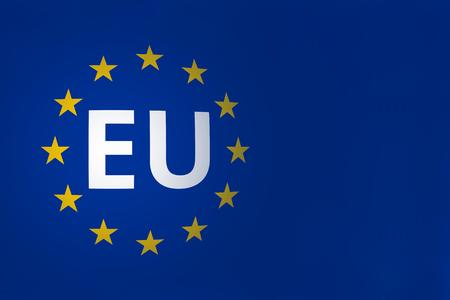 ヨーロッパ フラグ ダークブルー 写真素材