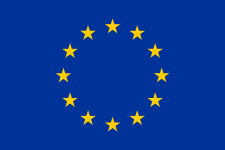 accession: europe flag original colors Stock Photo