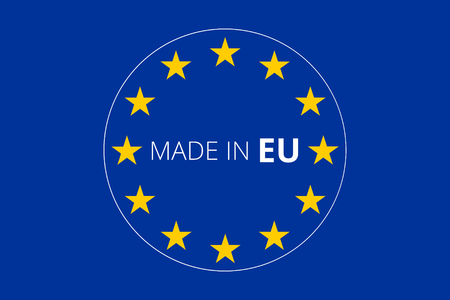 accession: made in europe Stock Photo