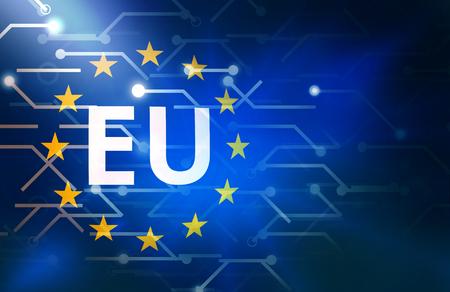 Europa Dataverbinding lijnen achtergrond Stockfoto
