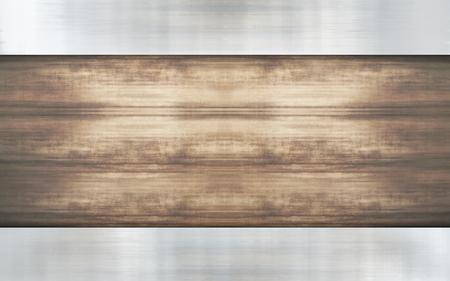 metallic: wood metallic background design