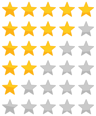product reviews: Star Rating zero up to five