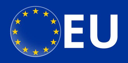 europa: Europe Stars Blue Flag Symbol