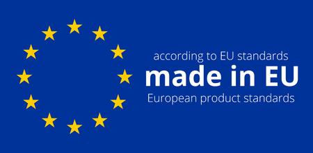 Europa Stars Blauwe Vlag van het Symbool