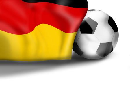 3d  ball: german flag football soccer 3D ball