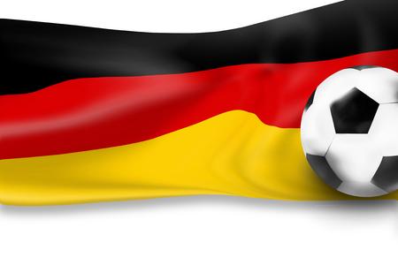 3d  ball: german flag football soccer 3D ball background