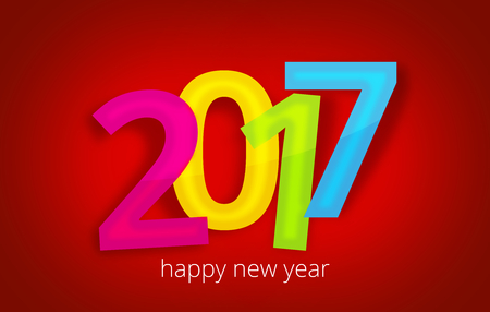 bold: 2017 bold font happy new year design Stock Photo