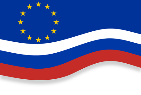 specifications: Original Europe and Russia Flag Background
