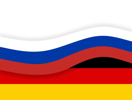 state owned: germany russia flag banner
