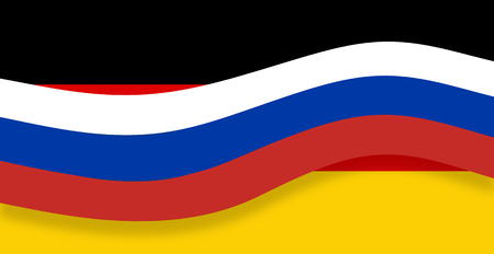 state owned: russia banner germany background flag design Stock Photo