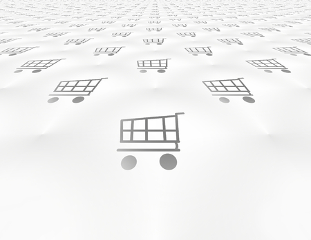 endless: endless background shopping cart silhouette Stock Photo