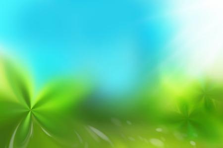 ligh: green ligh blue background nature friendly concept Stock Photo