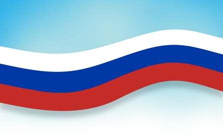 alliances: russia banner light blue clear sky background