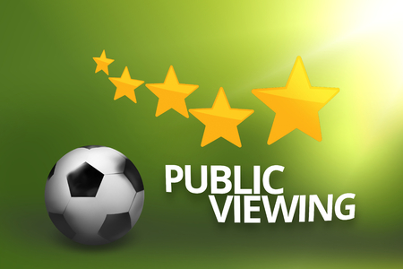 viewing: Public Viewing Football Soccer Ball Stock Photo