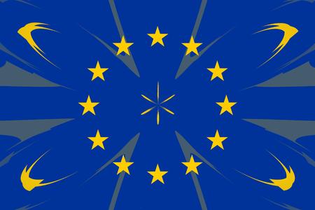accession: European original flag colors abstract design form