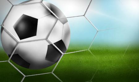 spiel: Goal - Football Background Ball 3D Design Stock Photo