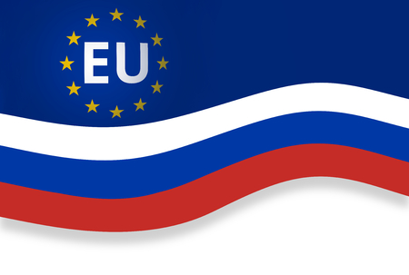 alliances: Original Europe and Russia Banner Flag Background