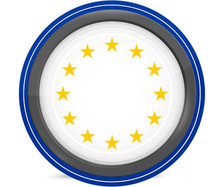 accession: europe flag design original colors blank round