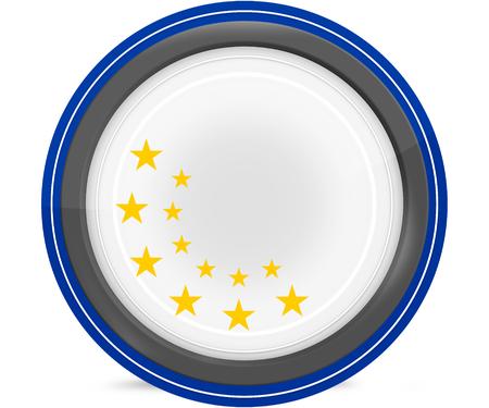 accession: europe flag 12 stars design original colors blank round