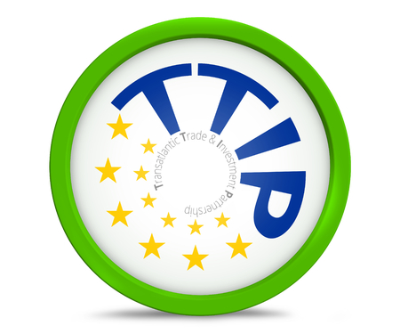 accession: TTIP Transatlantic Trade and Investment Partnership symbol