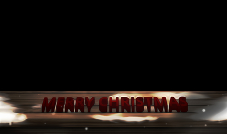 copy: merry christmas copy space black backgorund 3d render