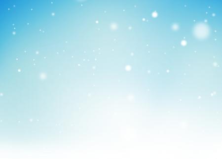 december sunrise: Christmas festive background light blue Stock Photo