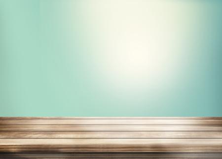 backgroud: wooden table copy space 3d render backgroud Stock Photo