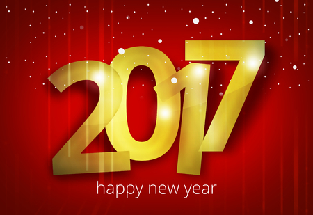 happy new year 2017 3D render design Stock Photo