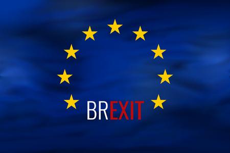 great britain: Brexit Great Britain dark european flag background design Stock Photo