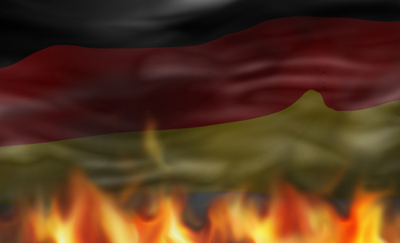 unrest: germany fire flames background graphic