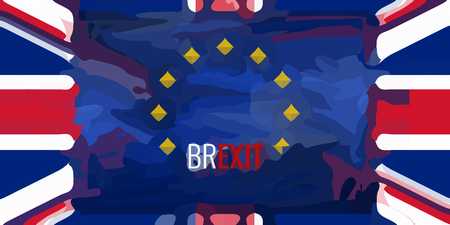 europe flags: Brexit United Kongdom Europe Flags Background