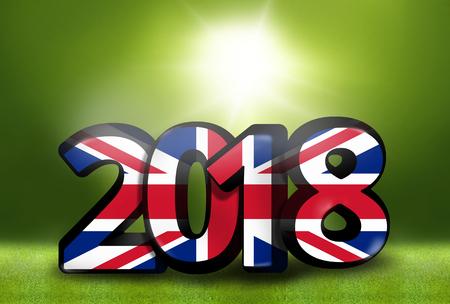 environmental awareness: United Kingdom 2018 big bold font 3d render illustration