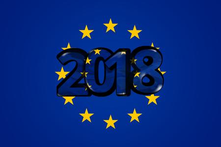 accession: 2018 Europe EU european 3d render bold font