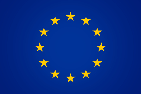 accession: Flag of Europe Background blue color design
