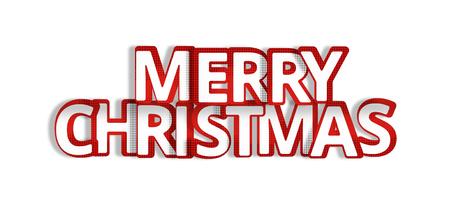 merry chrismas: merry chrismas 3d render festive red symbol Stock Photo