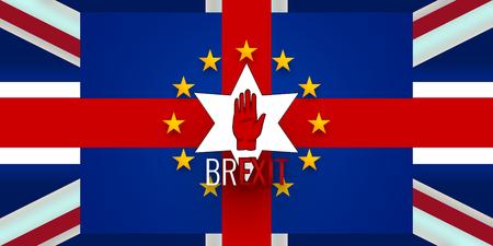 bandera de irlanda: Nueva Irlanda del Norte Bandera Brexit Europa
