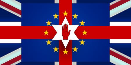 bandera irlanda: Nueva Irlanda del Norte Bandera Brexit Europa