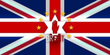 northern ireland: New Northern Ireland Flag Europe Brexit Flag