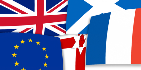 northern ireland: Northern Ireland Scotland Europe United Kingdom background flags