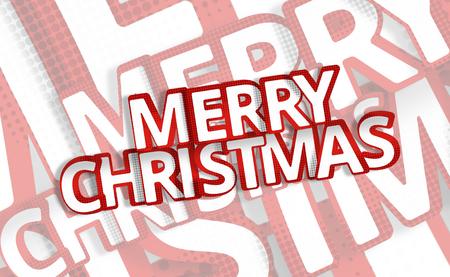 3d render: merry chrismas 3d render festive red symbol Stock Photo