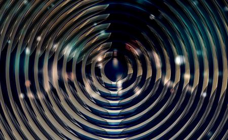 3d render: metallic spiral background glossy illustration 3d render
