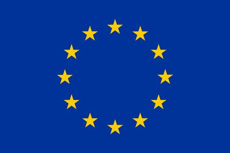 european: european union blue flag background Stock Photo