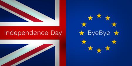 bye: Brexit independence day bye bye united kingdom europe Stock Photo