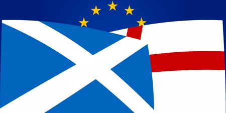 northern ireland: Northern Ireland Scotland Europe flags background graphic