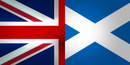 united kingdom: Scotland and United Kingdom Flags