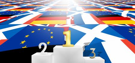 loser: winner loser united kingdom flags fpr example brexit winner Stock Photo