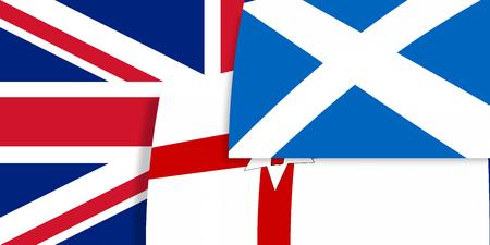 northern ireland: Northern Ireland Scotland flags background