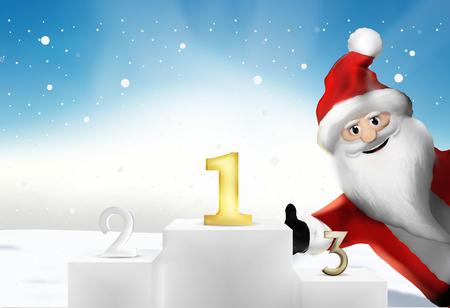 christmas profits: Winner of the Best is best podium 3d render