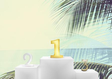 holiday profits: Winner of the Best is best podium 3d render