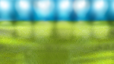 floodlights: stadium soccer football empty background Stock Photo